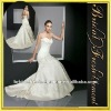 Hot Sale Long Satin Appliqued Plain White Strapless Wedding Dress
