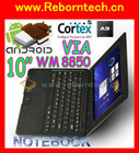 10 inch WM8850 Mini android laptop 3G WIFI