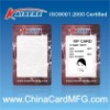 Thermal rewrite card with mifare 1k chip