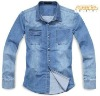 Men Denim Fashion Styles Shirts