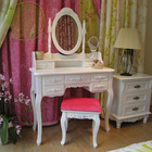 Cosmetic French Paint White Dresser