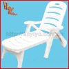 Pool PP adjustable beach chair, white folding beach chair