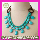 New Fashion Triple Strand Bead Necklace Wholesale