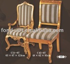 antique gold european style Living room chairs