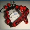 cross shamballa bracelet