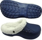 New winter fashion eva warm garden clog with fur lining