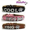 Top Quality 100% Real Cow Leather Personalized Dog Collar