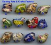 Wholesale 12 Animal Zodiac animal beads ceramic bead porcelain bead jewelry bead