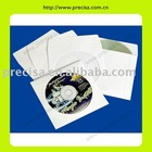 New White Paper CD Envelope with Clear Window and Flap