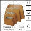 trapezia kraft paper shopping/gift bag