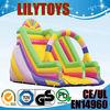 Attractive inflatable rainbow slide