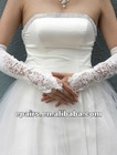 G02 Satin Fingerless Opera Length Bridal Gloves