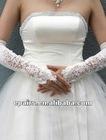 G02 Satin Fingerless Opera Length Bridal Gloves