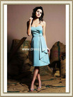 2012 Cheap Wholesale New Blue Taffeta Zippered Strapless Country Bridesmaid Dress