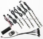 6pc 15color 5050 LED FLEXIBLE LED STRIP KIT MOTORCYCLE LIGHTS