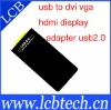2048*1152 USB to DVI/VGA/HDMI Ultra High Definition Display