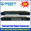 Full-motion cctv video twisted pair video converter BS-VB2400F for cctv camera
