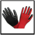 red yarn black nitrile glove,nitrile work glove