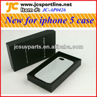 Silver carbon fiber white case for Iphone 5 with twill weave pattern