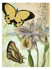 Vintage Abstract Wall Butterfly Canvas Print for Home Decor