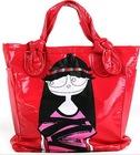 2010 Red PVC/PU Girls' handbag,Tote bag,Shoulder bag,Girls school bag