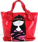 2010 Red PVC/PU Girls' handbag,Tote bag,Shoulder bag,Girls school bag