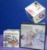 AN-629 Rotatable Polyhedral Square Acrylic Wedding Photo Display,Acrylic/Lucite Picture Holder,Lucite Photo Stand