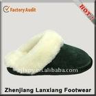 suede women's indoor sheepskin indoor slipper