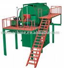Rebonding foam machine with steam boiler