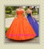 2012 New Design Orange Beading Ball Gown Prom Dress