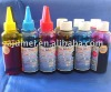 Printing dye ink in 4 Color * 100ml with round bottle compatible with CISS and Refillable ink cartridge