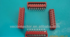 red 1.27mm Tyco IDC socket Polarized and contain strain relief clips contact with 1.27mm flat cable and dip to PCB