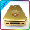 Gold battery case with LED light for Iphone4