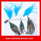 Handmade Natural Peacock Feather Hair Clip Hair Extensions