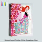 Fashionable colorful handmade photo album with lady shape