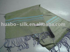 silk scarf with fringes