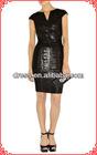 Shiny black party dress evening dress celebraty dress women wholesale 2012