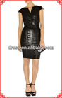 Shiny black party dress evening dress celebraty dress women wholesale 2012