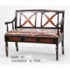Antique wood metal frame leisure chair G01087