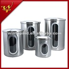 4pc Stainless steel airtight canister