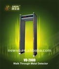 VO-2000 6 Zones Walk Through Metal Detector