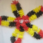 Hawaiian Flower Lei, Fancy Dress yellow Red & black Germany Flag Colour