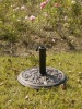 GARDEN POLYRESIN PARASOL BASE/ROSE DESIGN UMBRELLA BASE