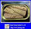 China Origin Oval Canned Mackerel Fillet in Oil