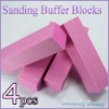 Customized nail buffer block
