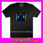 Flashing el sound active t-shirt