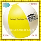 "2012 New inflatable pvc beach ball 16"" with yellow and white panel"