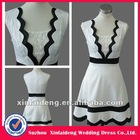 YD-12061204 Black and Whit A-line Career Dresses