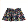 Little Girls Cute 100% Cotton Floral Print Tiered Skirt
