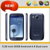 Newest 5inch S3 i9300 MTK6577 Mobile Phone Android4.0 CPU1.2Ghz 5inch screen mobile phones